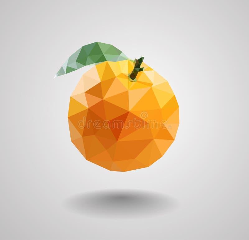 Bananfrukt i polygonstil royaltyfri illustrationer