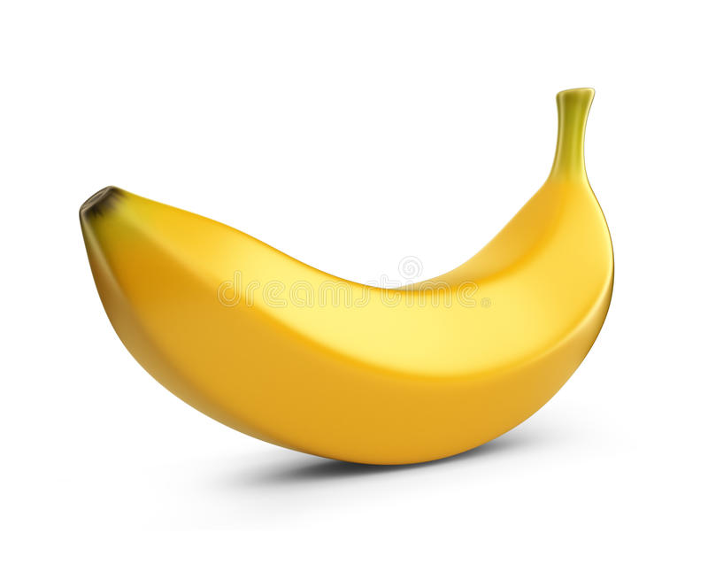 Bananfrukt, symbol 3D. Illustration  vektor illustrationer