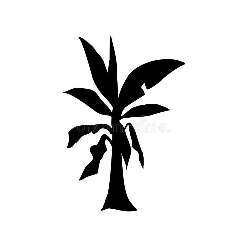 Bananowego drzewa logo szablonu wektoru ilustracja ilustracja wektor