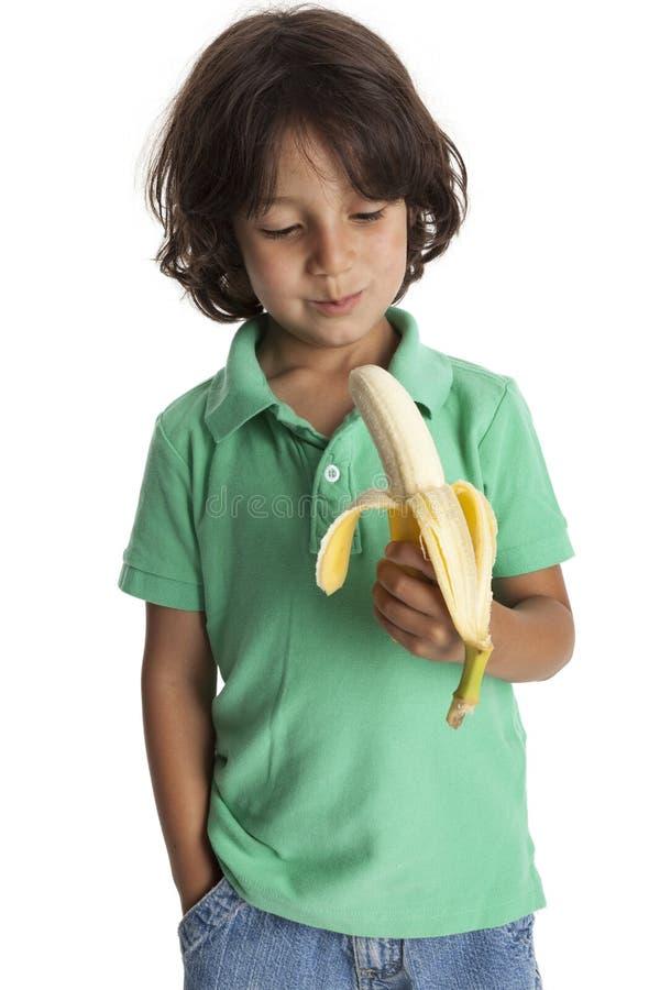 bananowej chłopiec mały target2358_0_ zdjęcia stock