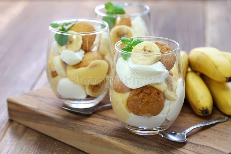 bananowy domowej roboty pudding fotografia stock