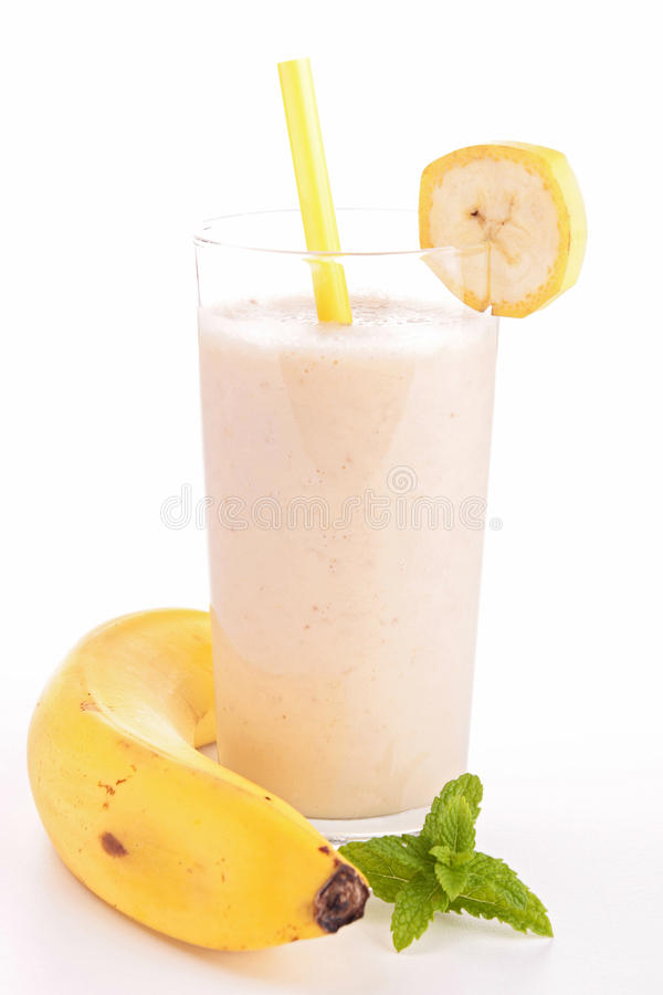 Bananowy smoothie obraz stock