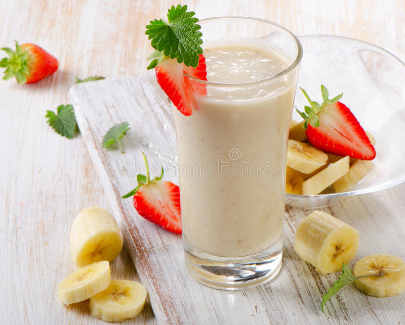 Bananowy Smoothie obrazy stock