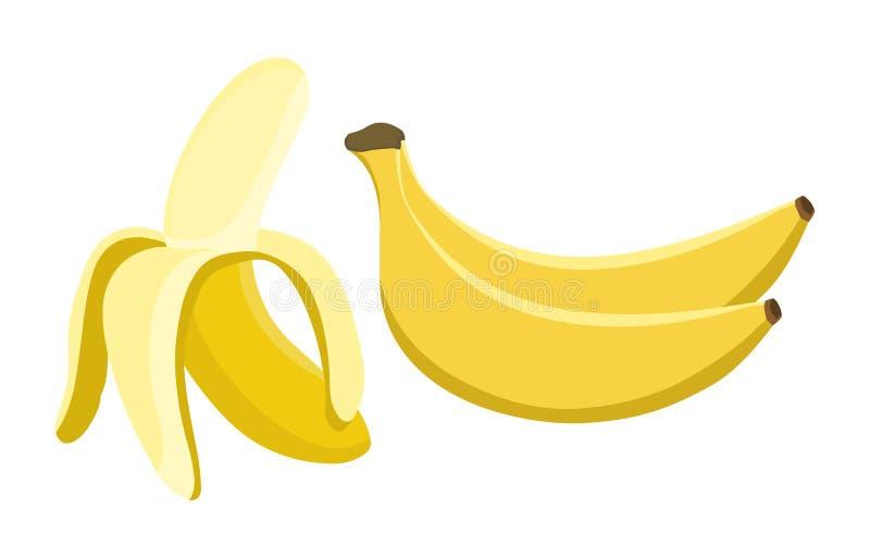 Bananowy wektor Świeża bananowa ilustracja ilustracja wektor