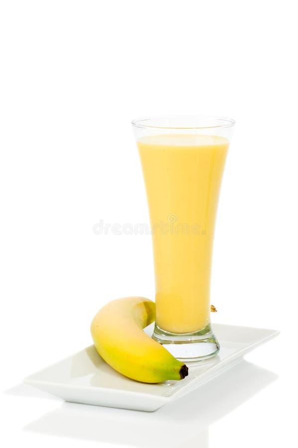 banansmoothie arkivfoto