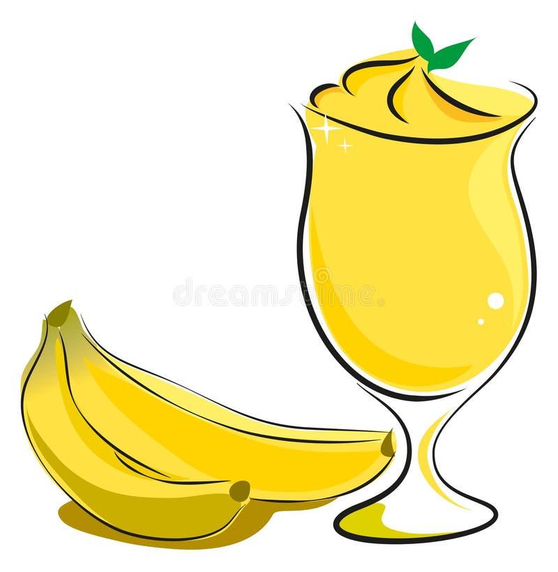 BananSmoothie royaltyfri illustrationer