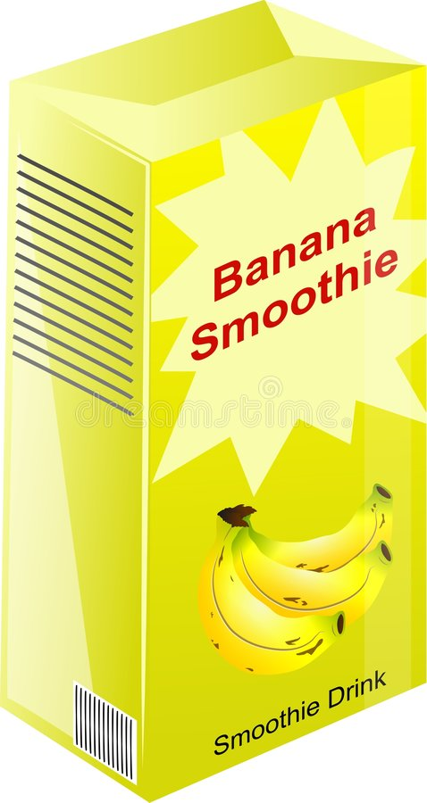banansmoothie vektor illustrationer