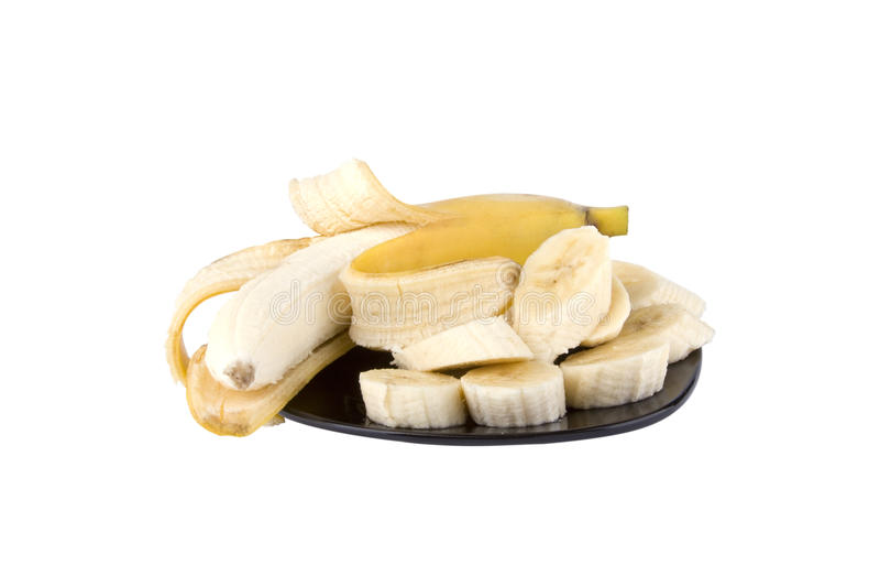 banansnitt royaltyfria bilder