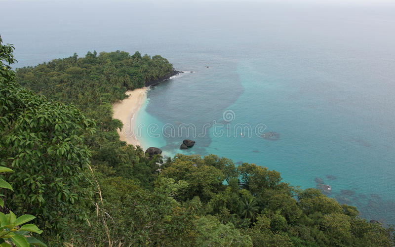 Bananstrand, São Tomé och Príncipe, Afrika royaltyfria foton