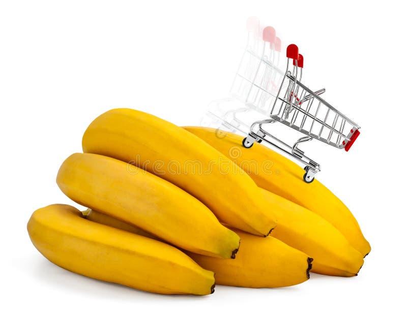 Banany na sprzedaży fotografia royalty free