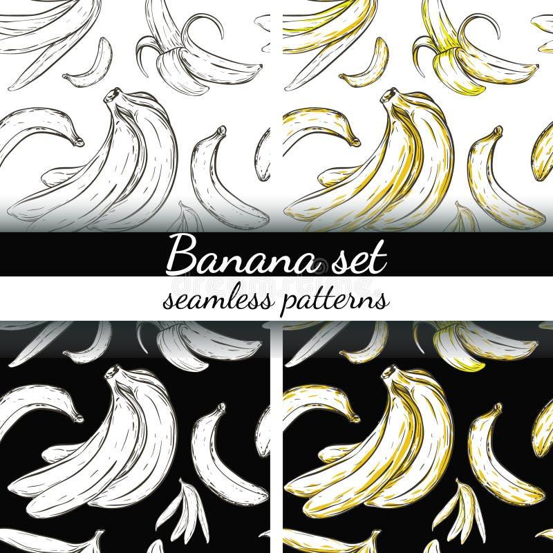 Banany ustawiający ilustracja wektor