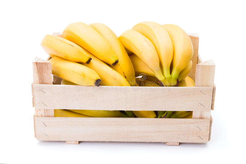 Banany w Drewnianej Skrzynce zdjęcie stock