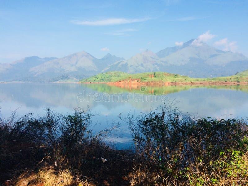 Banasura水坝padinjarathara 免版税库存图片