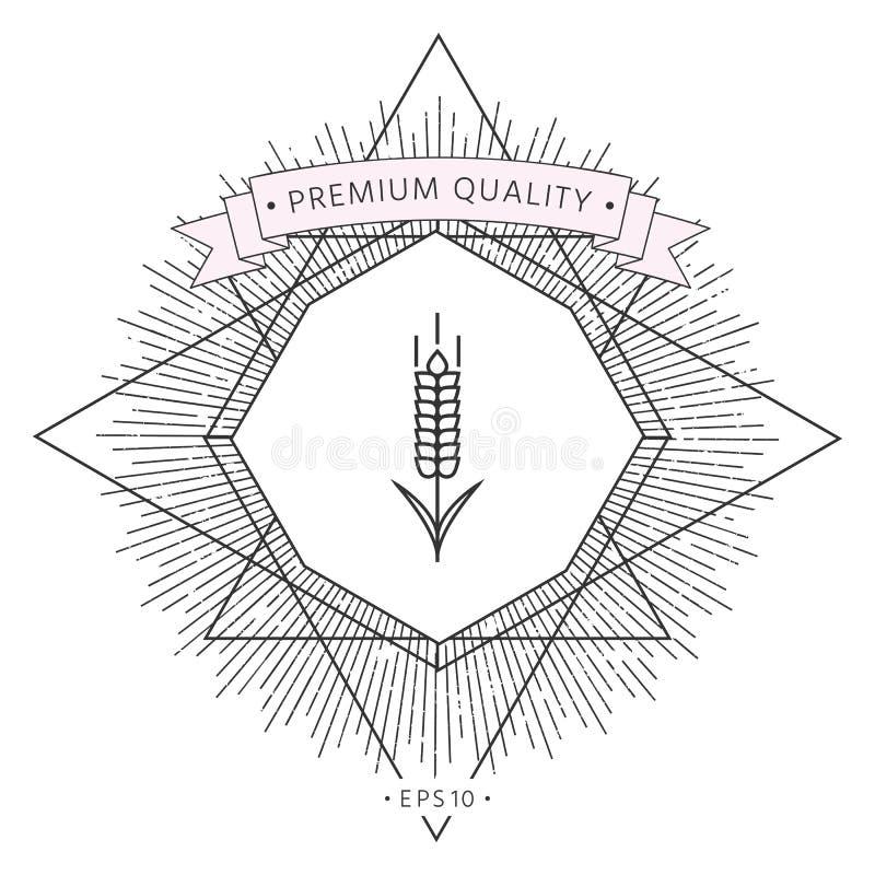 Banatki lub żyta spikelet ikona royalty ilustracja