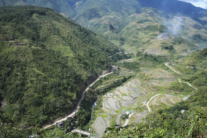 Banaue luzon Philippines de route de montagne photographie stock