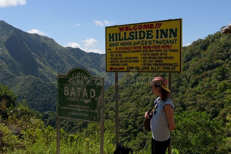 Banaue risterrasser, Filippinerna arkivbilder