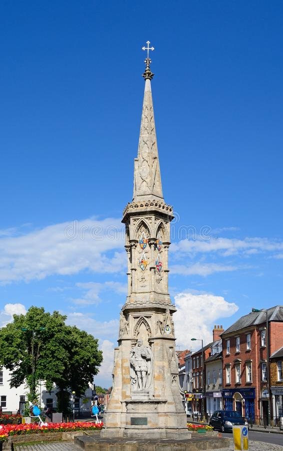 The Banbury Cross. View of the Banbury Cross in the town centre, Banbury, Oxfordshire, England, UK, Western Europe royalty free stock photo