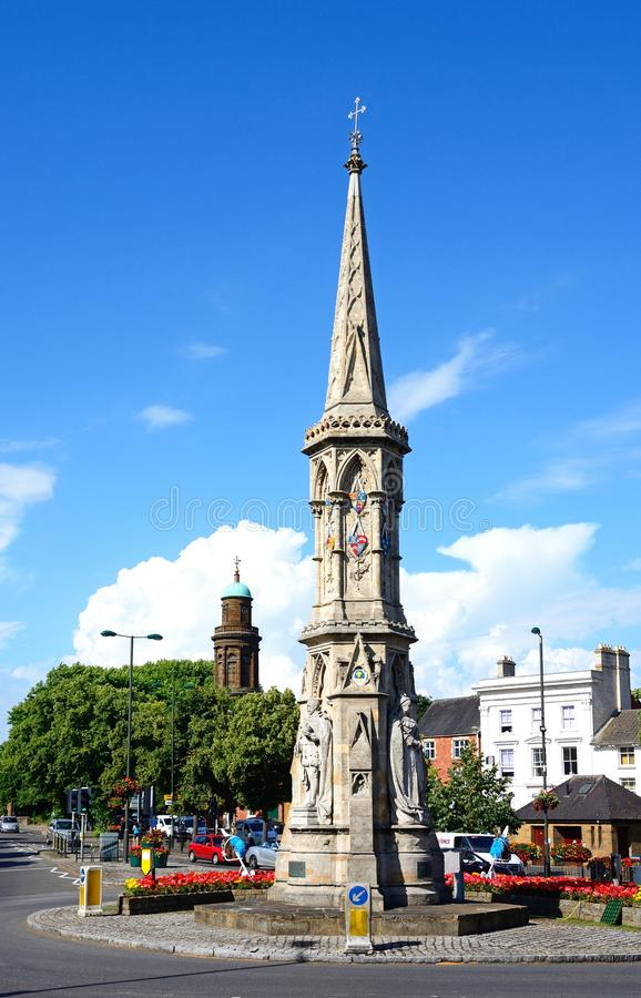 The Banbury Cross. View of the Banbury Cross in the town centre, Banbury, Oxfordshire, England, UK, Western Europe stock photo