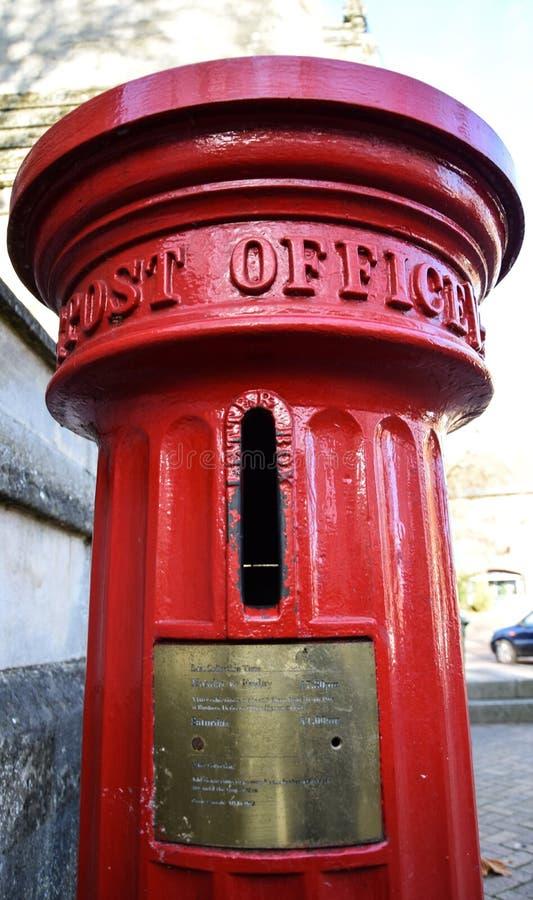 Old Style Post Box. Banbury, England - November 29 2017: An old style Royal Mail post box in Banbury stock images