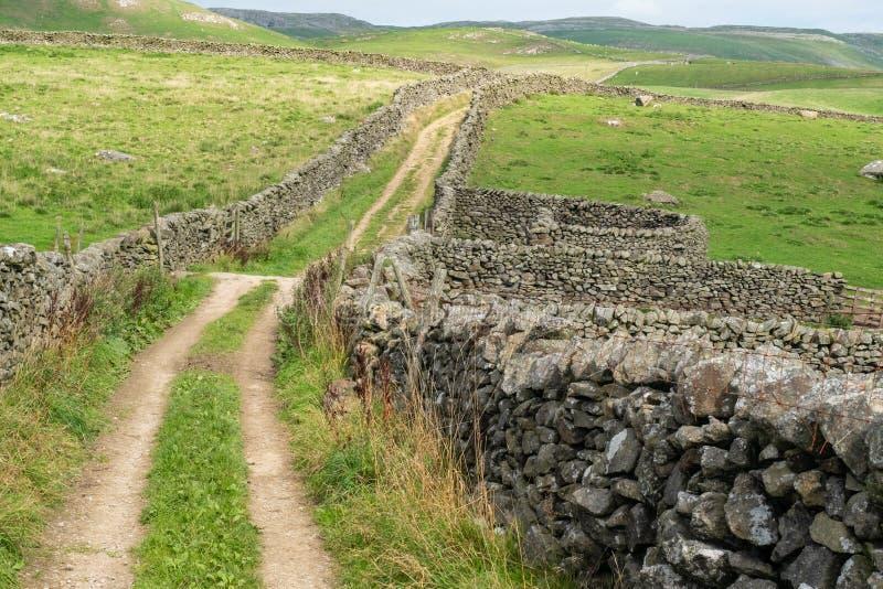 Banc à dossier d'abvove de voies vertes de vallées de Yorkshire photo libre de droits