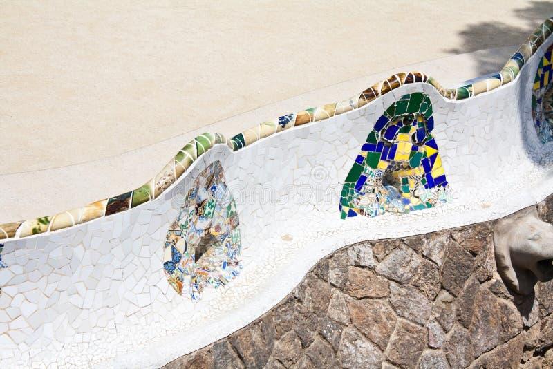 Banc dans Parc Guell image libre de droits