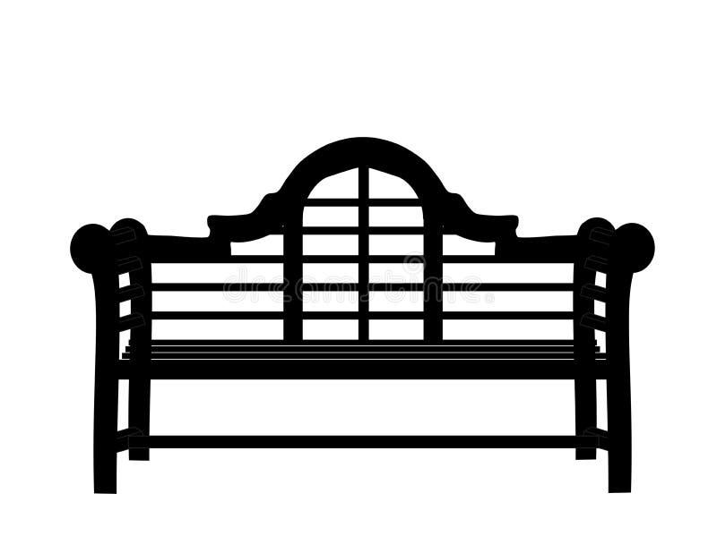 Banc de jardin illustration stock. Image du bleu, oriental - 24719912