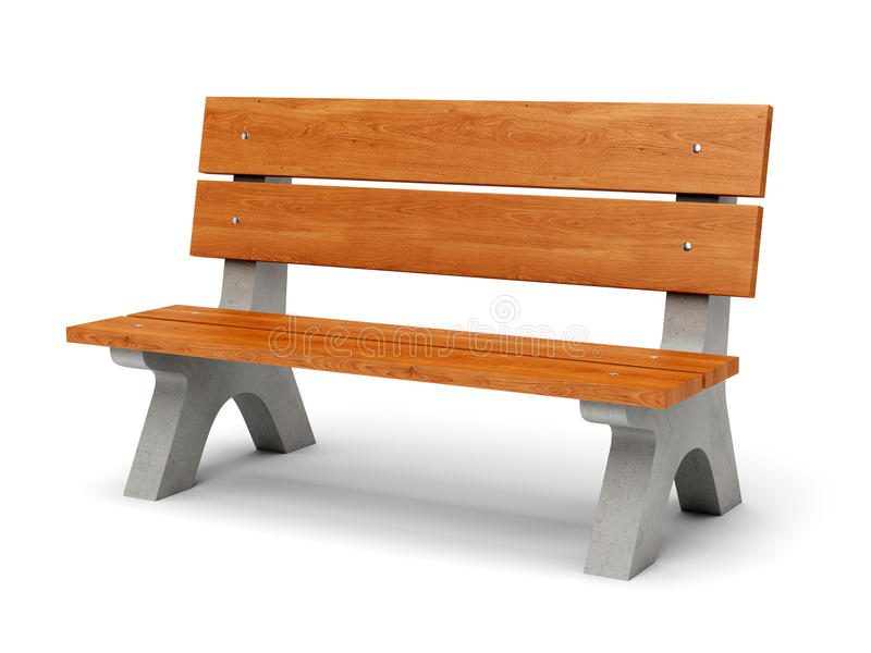 Banc de parc illustration stock