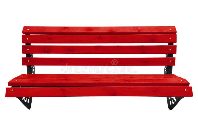 banc de parc en bois rouge image stock image 84762285. Black Bedroom Furniture Sets. Home Design Ideas