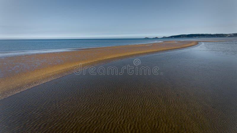 Banc de sable de baie de Swansea photos libres de droits