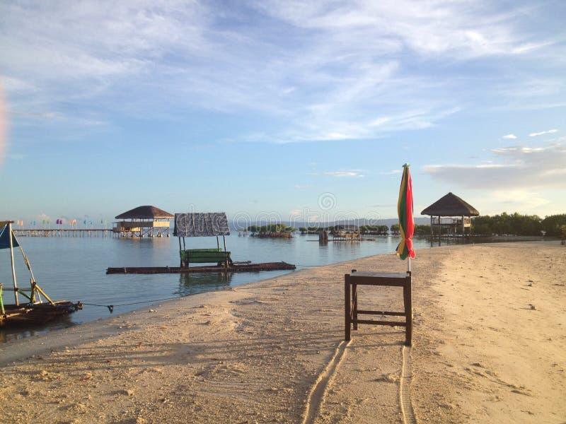 Banc de sable de Buntod au soleil photographie stock