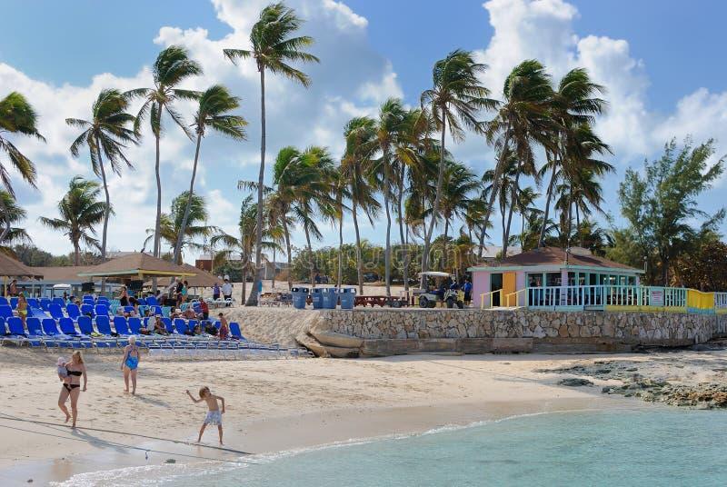 Banc de sable grand d'étrier, Bahamas photos libres de droits