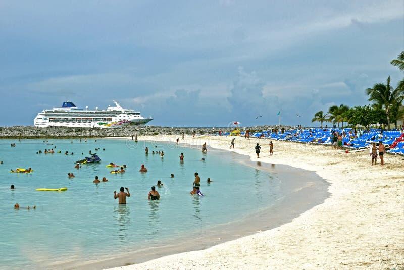 Banc de sable grand d'étrier, Bahamas photos stock