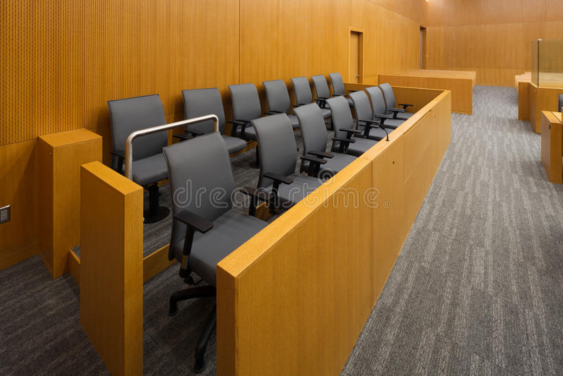 Banc des jurés photos libres de droits