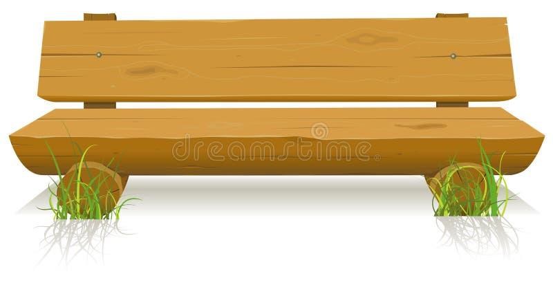 Banc en bois illustration de vecteur
