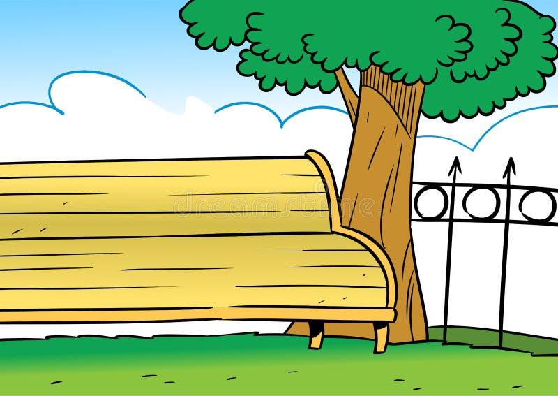 Banc en parc illustration libre de droits