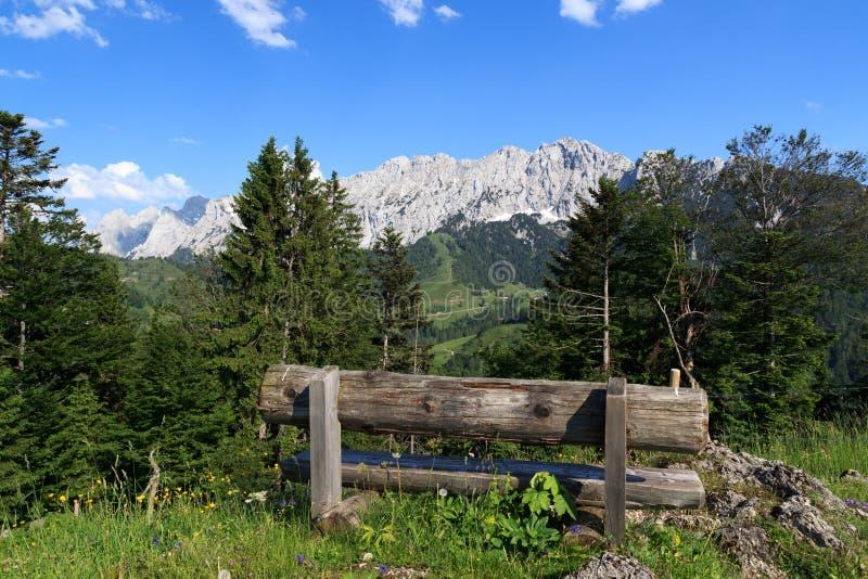 Banc et montagnes sauvages de Kaiser images libres de droits