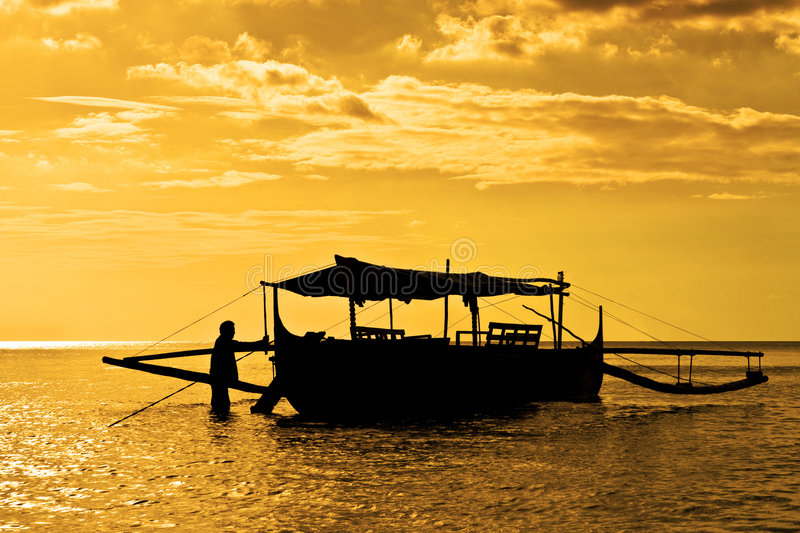 Banca渔船 库存图片