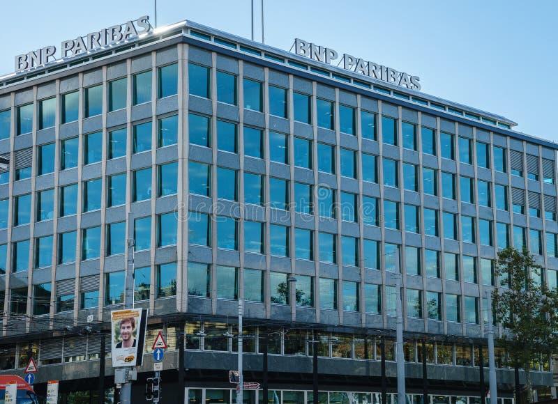Banca del BNP Paribas fotografia stock libera da diritti