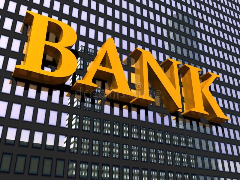 Banca del segno e della costruzione illustrazione di stock