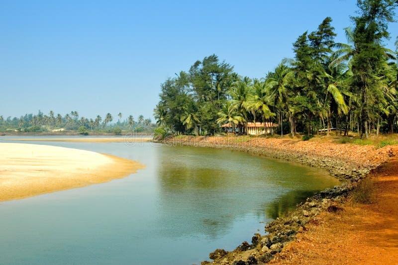 Banca di fiume in India fotografie stock libere da diritti