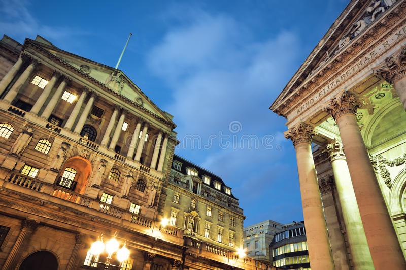 Banca di Inghilterra. fotografia stock