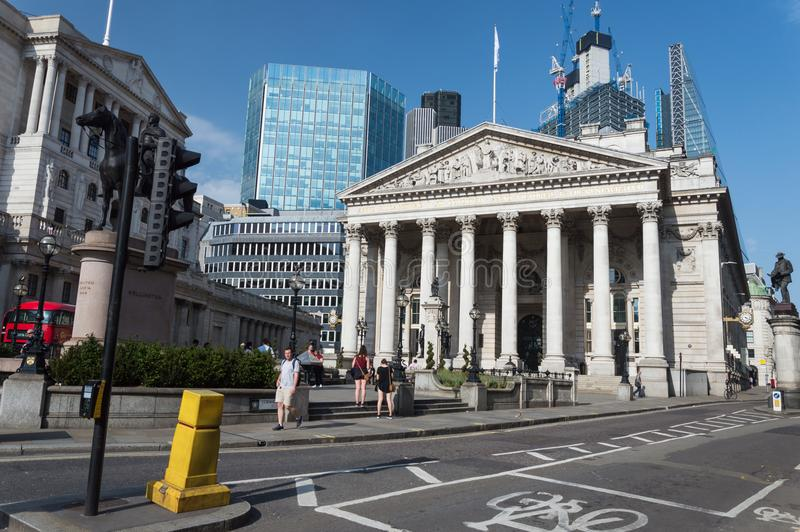 Banca di Inghilterra Londra immagine stock