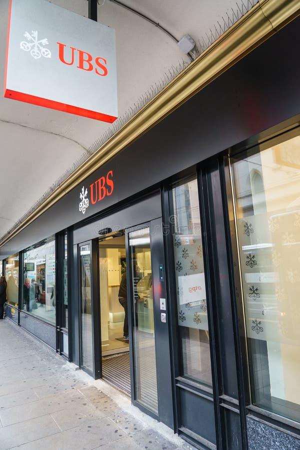 Banca di UBS fotografia stock libera da diritti