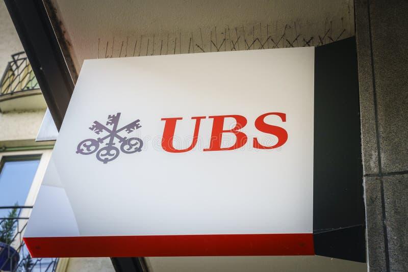 Banca di UBS immagine stock libera da diritti