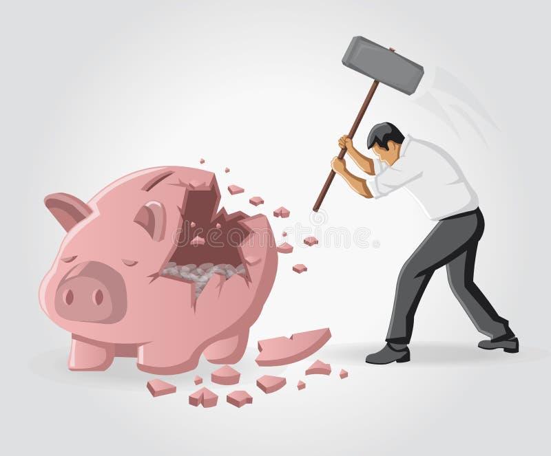 Download Banca Piggy con le monete immagine stock. Immagine di crisi - 27541417