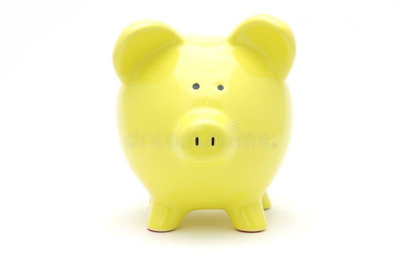 Banca piggy gialla immagine stock libera da diritti
