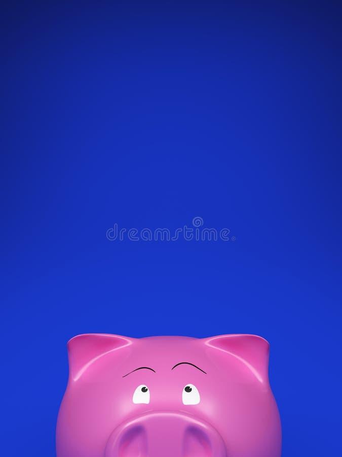 Banca Piggy sull'azzurro in bianco fotografia stock libera da diritti