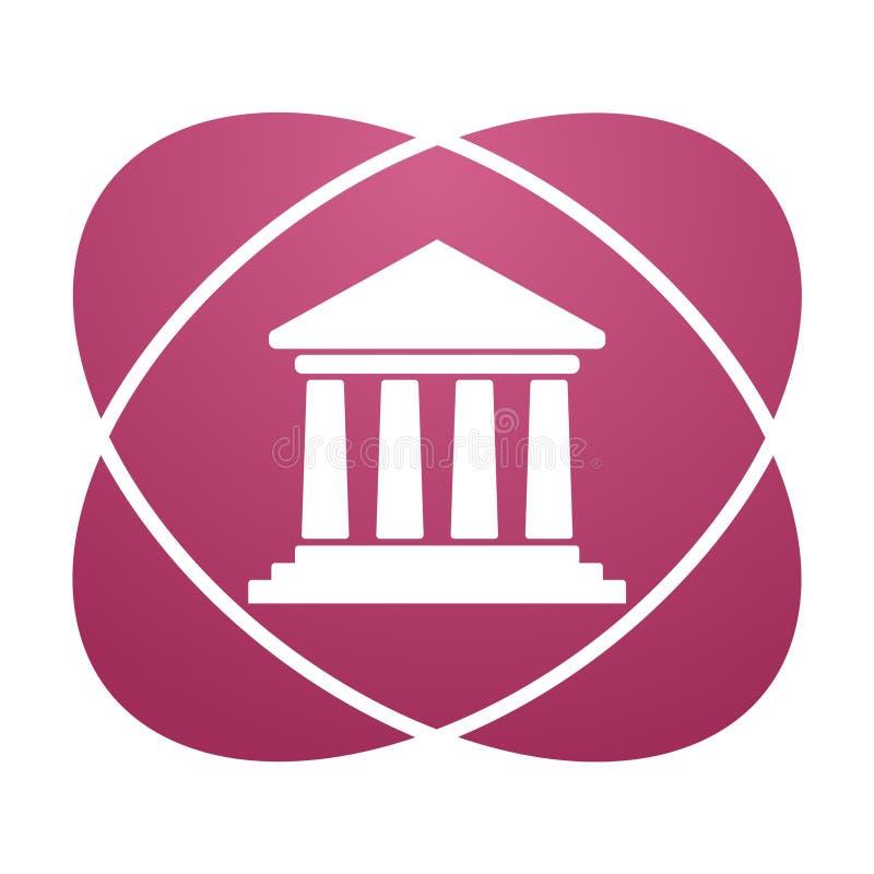 Banca rosa del segno illustrazione di stock