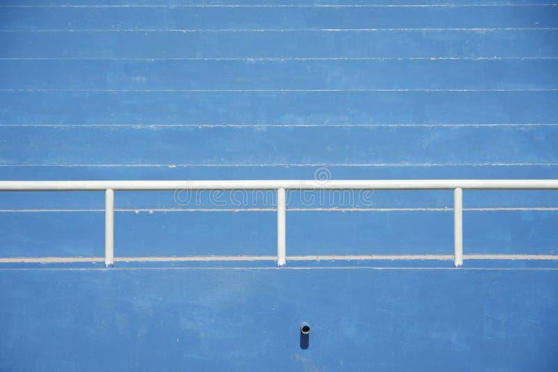 Bancada do estádio - azul foto de stock