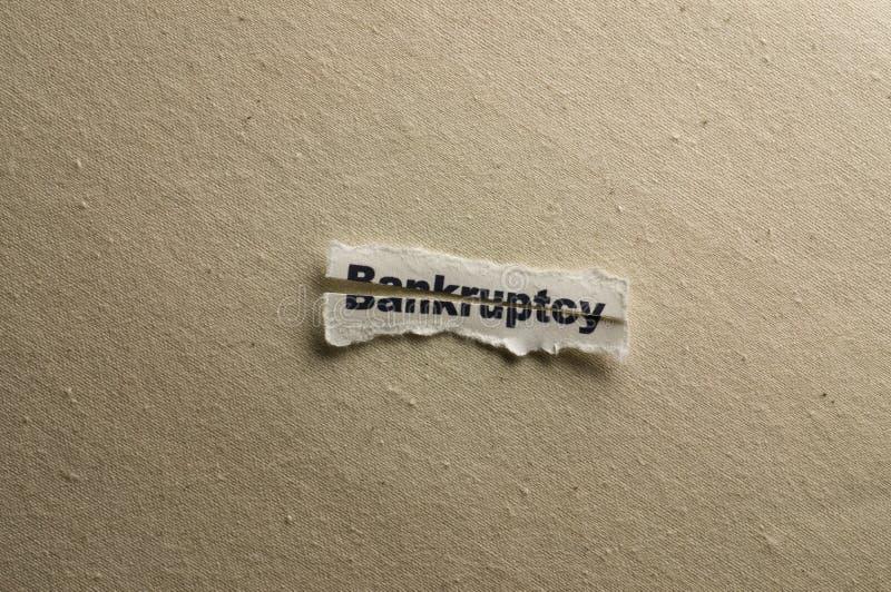 Bancarrota fotografía de archivo libre de regalías